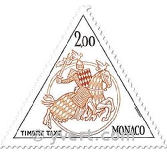 n° 71/72 -  Selo Mónaco Taxa