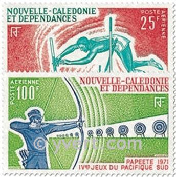 n° 122/123 -  Timbre Nelle-Calédonie Poste aérienne
