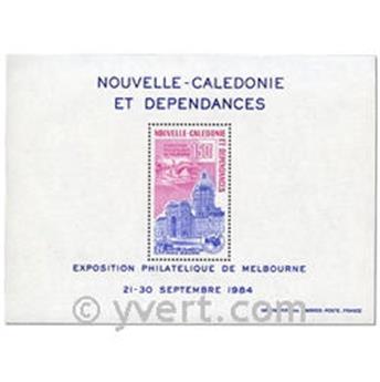 n.o 6 -  Sello Nueva Caledonia Bloque y hojitas