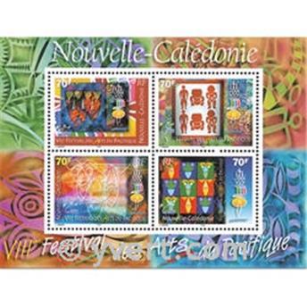 n.o 24 -  Sello Nueva Caledonia Bloque y hojitas