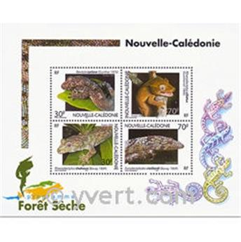 n° 29 -  Selo Nova Caledónia Blocos e folhinhas