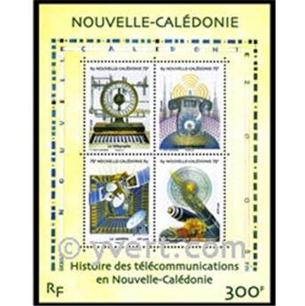 n° 38 -  Selo Nova Caledónia Blocos e folhinhas