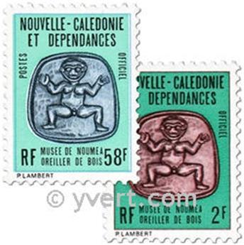 n° 38/40 -  Timbre Nelle-Calédonie De service