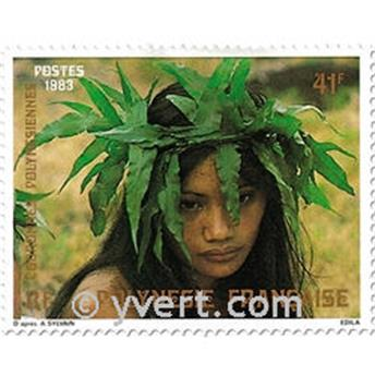 n.o 205/207 -  Sello Polinesia Correos