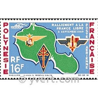 n° 8 -  Selo Polinésia Correio aéreo