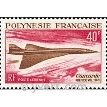 n.o 27 -  Sello Polinesia Correo aéreo