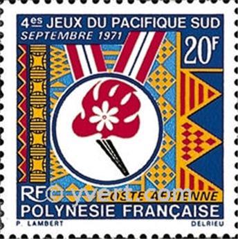 n° 45 -  Selo Polinésia Correio aéreo