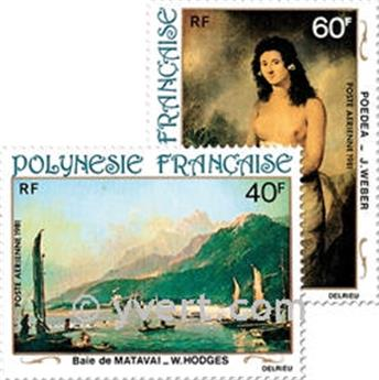 n° 163/166 -  Timbre Polynésie Poste aérienne