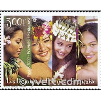 n.o 25 -  Sello Polinesia Bloque y hojitas