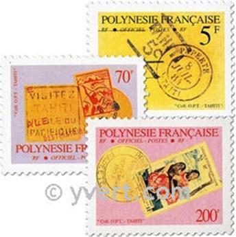 n° 17a/25a -  Timbre Polynésie De service