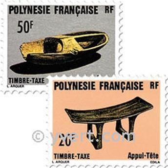n° 8/9 -  Timbre Polynésie Taxe