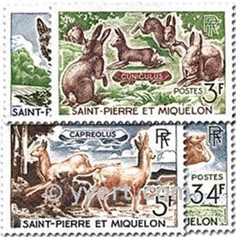 n° 372/375 -  Timbre Saint-Pierre et Miquelon Poste
