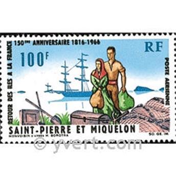 n.o 36 -  Sello San Pedro y Miquelón Correo aéreo