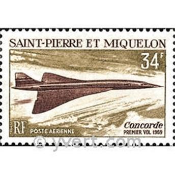 n° 43 -  Timbre Saint-Pierre et Miquelon Poste aérienne