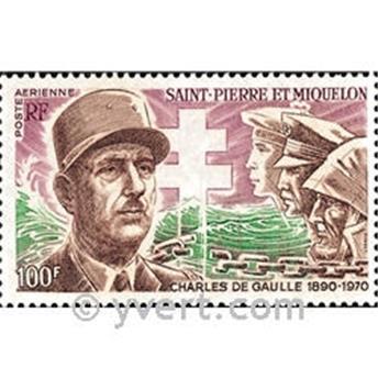 n° 53 -  Timbre Saint-Pierre et Miquelon Poste aérienne