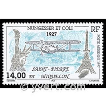 n.o 77 -  Sello San Pedro y Miquelón Correo aéreo