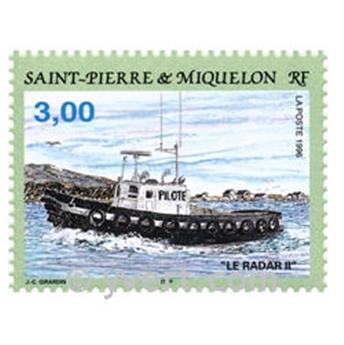 n.o 5 -  Sello San Pedro y Miquelón Bloque y hojitas
