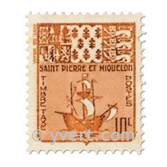 n° 67/76 -  Timbre Saint-Pierre et Miquelon Taxe