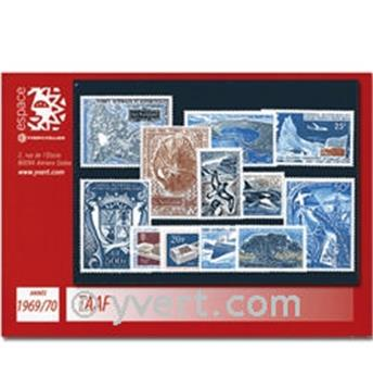 nr. 28/33+PA17/22 - French Southern Territories Year set (1969/70)