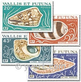 n.o 192/195 -  Sello Wallis y Futuna Correos
