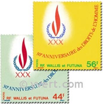 n.o 224/225 -  Sello Wallis y Futuna Correos