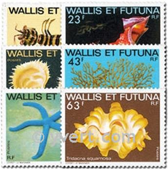 n.o 248/253 -  Sello Wallis y Futuna Correos