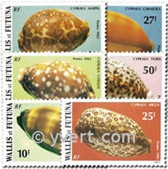 n.o 291/296 -  Sello Wallis y Futuna Correos
