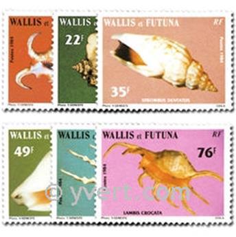n.o 312/317 -  Sello Wallis y Futuna Correos