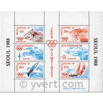 n° 3 -  Selo Wallis e Futuna Blocos e folhinhas