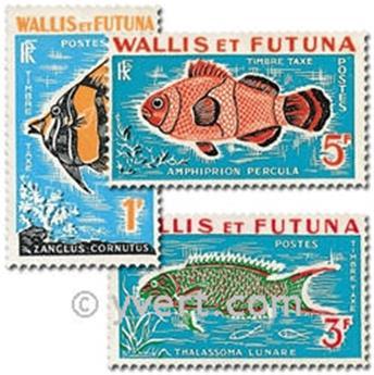 n° 37/39 -  Timbre Wallis et Futuna Taxe