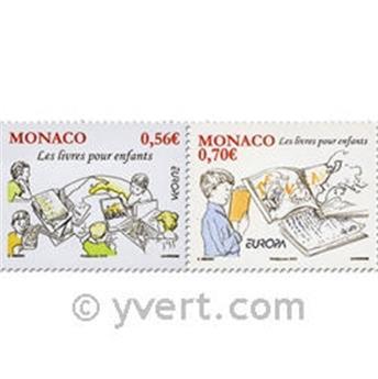 n° 2739/2740 -  Selo Mónaco Correios