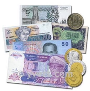 INDOCHINA: Lote de 3 billetes