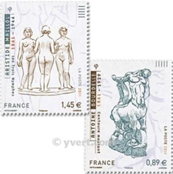 n° 633/634 -  Timbre France Autoadhésifs