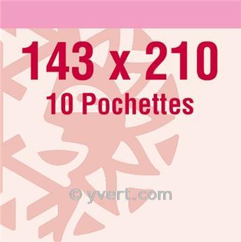 Pochettes double soudure - Lxh:143x210mm (Fond transparent)
